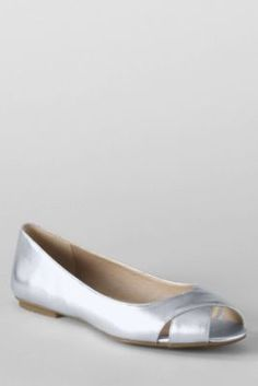 Women's Blythe Open Toe Ballet Shoes from Lands' End: bought these in navy & they fit GREAT & are completely cute.