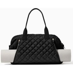 Kate Spade Ridge Street Lance Yoga Bag (375 CAD) ❤ liked on Polyvore featuring bags, handbags, tote bags, sport, quilted tote, kate spade purses, kate spade tote, quilted tote bags and sports tote bag