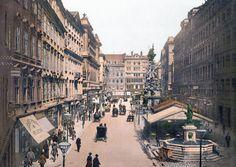 Graben in Vienna around 1900. View is from St. Stephans square towards Kohlmarkt.