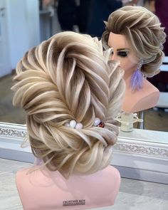 Do you wanna see more fab hairstyle ideas and tips for your wedding? Then, just visit our web site babe! Do you wanna see more fab hairstyle ideas and tips for your wedding? Then, just visit our web site babe! Braided Hairstyles Updo, Braided Updo, Hairstyles With Bangs, Wedding Hairstyles, Hairstyle Ideas, Short Hair Styles Easy, Medium Hair Styles, Curly Hair Styles, Updo Styles