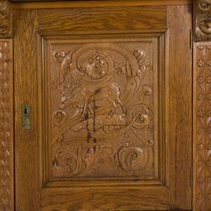 Closet with carvings, Viking style, Norway, beginning of 1900.