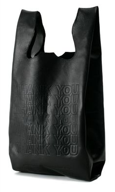 leather thank you bag