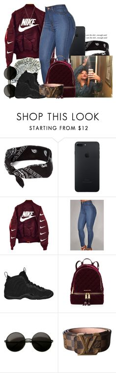 """""""▌cryin' in my arms like a nig`a wrecked you , runnin' to the restroom ▌"""" by trap-ical ❤ liked on Polyvore featuring claire's, NIKE, MICHAEL Michael Kors, Louis Vuitton and Gucci"""