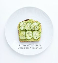 Easy and quick cucumber + avocado toast. Click on picture to see more ways to top an avocado toast, all with fresh ingredients | littlebroken.com @littlebroken