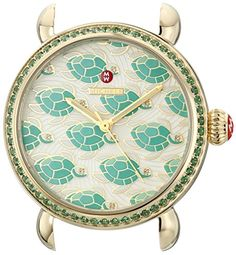 MICHELE Women's MW05E45B0914 Exotic Creatures Analog Display Swiss Quartz Green Watch * Find out more about the great product at the image link.