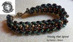 PATTERN Flat Spiral Tutorial Bracelet Trinity by BaublesbyBalonis