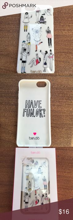 Ban.do iPhone 6 cover Ban.do iPhone 6 cover.  Flexible fit, soft plastic cover.  Brand new never used.  Opened box to take photo ban.do Accessories Phone Cases