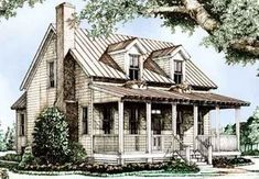 Looking for the best house plans? Check out the Ashley River Cottage plan from Southern Living. Southern Living House Plans, Country House Plans, Country Style Homes, Country Houses, Low Country, Country Cottages, Farm Houses, Modern Country, Pool Houses