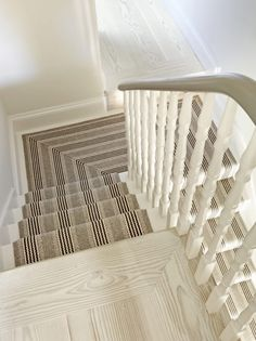 Cost Of Carpet Runners For Stairs Hallway Carpet Runners, Cheap Carpet Runners, Carpet Stairs, Stair Runners, Grey Wood Tile, Wood Tile Floors, Victorian Stairs, Victorian Homes, Narrow Hallway Decorating