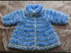 Вяжем крючком - пальто из травки для девочки. Часть 1 - YouTube Knit Cardigan, Knit Dress, Free Crochet, Knit Crochet, Baby Sweaters, Fingerless Gloves, Baby Knitting, Arm Warmers, Doll Clothes