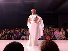 "Her Universe Fashion Show - SDCC 15 #SDCCgeekcouture | Ashley Eckstein in ""Nouveau Leia"" gown designed by Andrew MacLaine"
