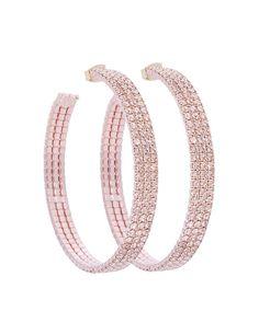 """1.5"""" DIAMETER HOOP EARRING - EE1046-ROSE GOLD"""