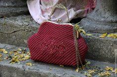 """Купить Сумочка """"Vintage"""" - бордовый, винтажный стиль, винтажная сумочка, сумка ручной работы"""