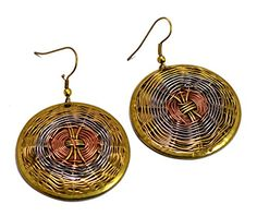 A Pair of Indian White,copper & Brass Metal Traditional Boho Hippie Earrings Aife_715 Krishna Mart India http://www.amazon.com/dp/B00MIZ916O/ref=cm_sw_r_pi_dp_DlqJvb1KM5SBQ