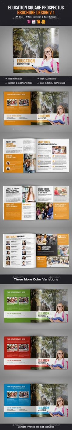 Education Brochure Design V  Brochures Corporate Brochure And