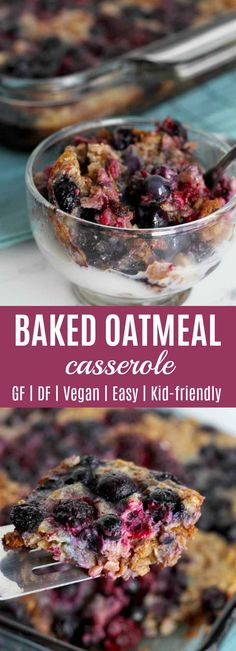 You are going to love making and eating this Baked Oatmeal Casserole! Berries, cinnamon, walnuts, eggs, milk (any kind), and breakfast goodness all in one pan. #breakfast #casserole #oatmeal #berries #healthyrecipe #cleaneating #lowsugar #vegan #realfood #kidfood #baked #easy | thenourishedfamily.com