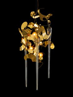 Our populair Kelp Fortuna contemporary composition in a brass finish. See all our modern chandeliers and contemporary lighting collections at WWW.COM or get in touch for custom lighting requests or interior design lighting projects Custom Lighting, Modern Lighting, Contemporary Chandelier, Light Project, Pendant Lighting, Ceiling Lights, Van, Chandeliers, Sculptures