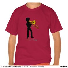 T-shirt with illustration of trombonist