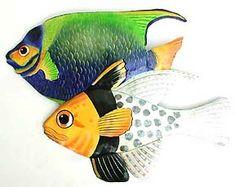Blue Angelfish and Pajama Fish Tropical Fish Wall Art - buy at Blue Barnacles, www.bluebarnacles.com