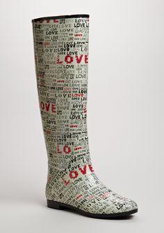 LOVE rainboots