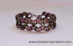 swarovski, beads, superduo, bracelet, pulsera