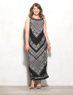 f8328f898bf Maxi season is back! Start it off right with a chic and stylish printed  dress