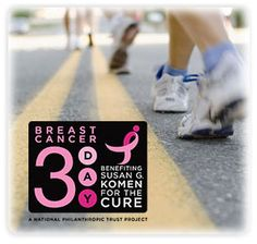 I still have $1425 to raise!! Who's going to help us get there???  Susan G. Komen 3-Day Walk