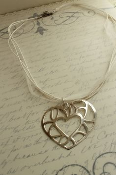 Pure Silver Heart by almacastro on Etsy, $30.00