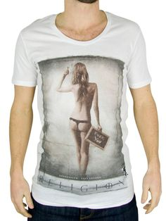 Religion - Blanc F You T-Shirt - Homme - Taille: Large: Amazon.fr: Vêtements et accessoires