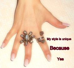 Hand with Style, BECAUSE...
