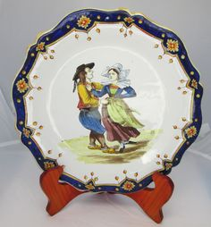 Dancing! This dancing couple plate is from Geo Martel of Desvres. Photo courtesy of countryfrenchpottery.com. Join our mailing list.