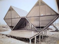 I used to call this the Diamond house! We thought it floated away in a hurricane!!!!      Andrew Geller  Pearlroth House  Westhampton Beach  1959