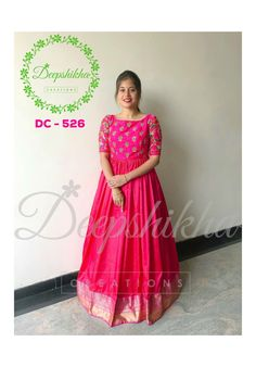 d555f8282ce DC - Stunning pink color floor length anarkali dress with big pattu  boarder. Anarkali dress with hand embroidery work on yoke. For queries  kindly WhatsApp  ...