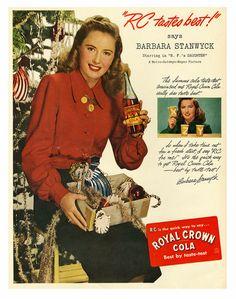 Barbara Stanwyck Christmas with RC cola