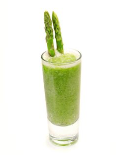 Detox your body:    Serving Size: 1 Cup  6 asparagus spears (medium size)  1/2 cucumber  1/2 cup of purified water  1 lemon (juice only)