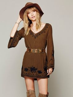 Free People Skyfall Embroidered Dress, $148.00