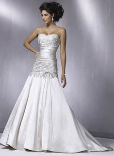 Dave and Bridal Wedding Dress: I like the top half on this