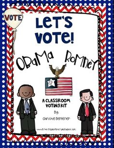 Let's Vote! {Classroom Election Kit} Free with emergent reader