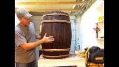 how to make carboard whiskey barrels - YouTube