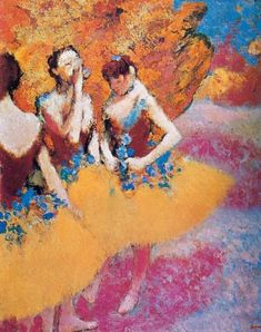 orange skirt by Edgar Degas Edgar Degas, Degas Ballerina, Ballerina Painting, Degas Paintings, Art Ancien, Post Impressionism, Renoir, Beautiful Paintings, Figure Painting