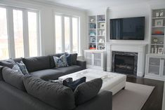 4 Experienced Clever Tips: Small Living Room Remodel Ideas small living room remodel floating shelves.Living Room Remodel Before And After Inspiration living room remodel before and after countertops.Living Room Remodel On A Budget Renovation. Cozy Living Rooms, My Living Room, Home And Living, Living Room Decor, Living Spaces, Living Walls, Simple Living, Contemporary Family Rooms, Family Room Sectional