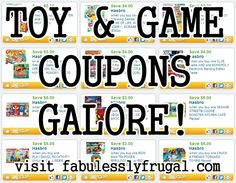 Toy and Game coupons! Time to get good deals for Christmas...