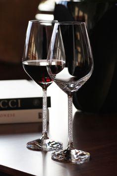 Swarovski Crystalline Crystal Red Wine Glass, Pair