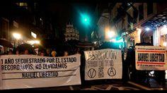 """Manifestación  """"Nahuel libertad - Por la absolución SXE Madrid"""" 4-11-2016"""