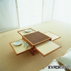 saving space table in japanese style