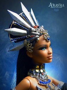 Yesterday I had the INCREDIBLE opportunity of posting the first images of the stunning Akasha OOAK Barbie Doll created by Davvid Bocci of Refugio Rosa with the Beautiful Barbie Dolls, Pretty Dolls, Barbie Mala, Queen Of The Damned, Bad Barbie, Custom Monster High Dolls, African American Dolls, African Dolls, Barbie Collector