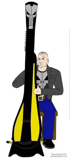 It's been a little while since I posted. That's because I'm way too busy creating another Punisher harp art which I'll get done sometime either tomorrow or on Thursday. In the meantime, I took a breather from my work to go back and add modifications to my latest Punisher harp art showing Jon Bernthal as ... Read more