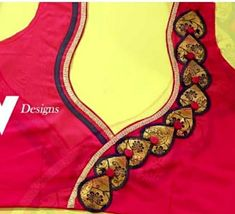 Cutwork Blouse Designs, Saree Blouse Neck Designs, Simple Blouse Designs, Blouse Patterns, Crochet Bag Tutorials, Indian Blouse, Embroidered Blouse, Blouse Styles, Girls Dresses