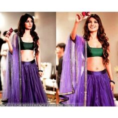 Bollywood Replica - Priyanka Chopra Purple Net Lehenga - 1113