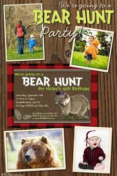 bnute productions: We're Going on a Bear Hunt Party Invitations and Ideas